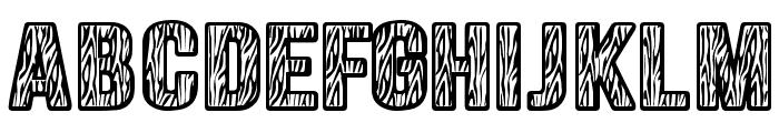 Zebraliner Font UPPERCASE