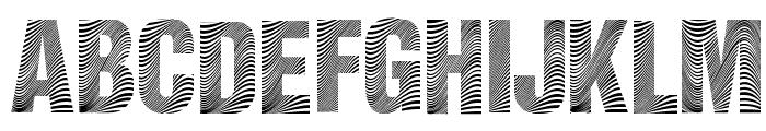 Zebretica Font UPPERCASE