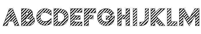 Zebrures Tryout Font UPPERCASE