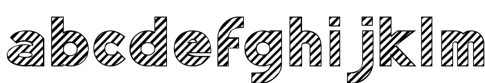 Zebrures Tryout Font LOWERCASE