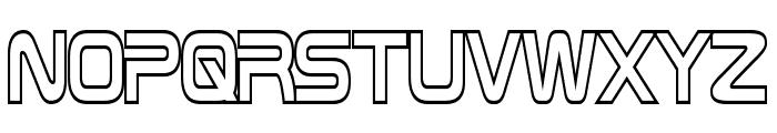 Zebulon Hollow Condensed Font UPPERCASE