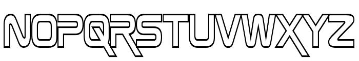 Zebulon Hollow Condensed Font LOWERCASE