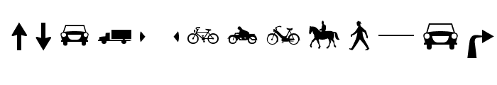 Zeichen Zweihundert Alt Font UPPERCASE