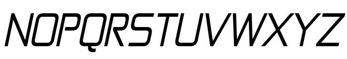 Zekton Italic Font UPPERCASE