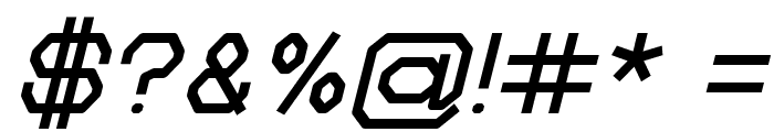 Zelta-Six Demo Light Italic Font OTHER CHARS