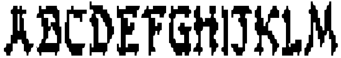 Zen Masters Condensed Font UPPERCASE