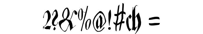 ZenFraxFreestyleCondensed Font OTHER CHARS