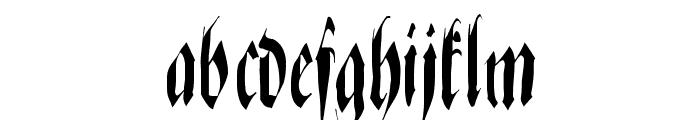 ZenFraxFreestyleCondensed Font LOWERCASE