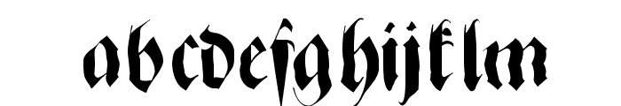 ZenFraxFreestyle Font LOWERCASE