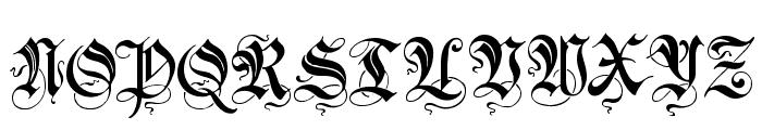Zenda Font UPPERCASE