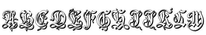 ZendaEmbossed Font UPPERCASE