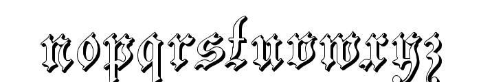 ZendaEmbossed Font LOWERCASE