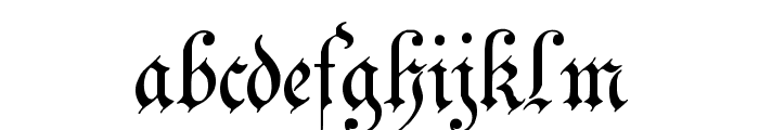 Zenda Font LOWERCASE