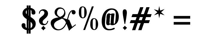 Zentenar Fraktur OsF Bold Font OTHER CHARS