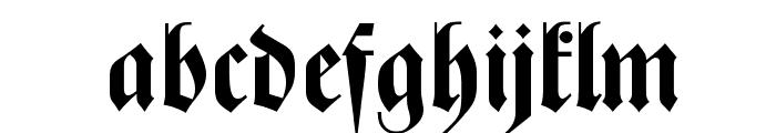 Zentenar Fraktur OsF Bold Font LOWERCASE