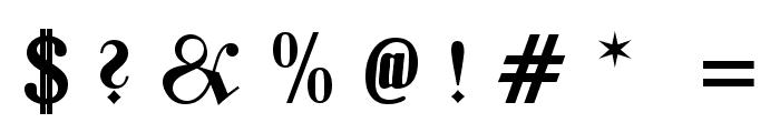 Zentenar Fraktur UNZ1L Bold Italic Font OTHER CHARS