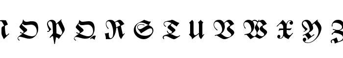 Zentenar Fraktur UNZ1L Bold Italic Font UPPERCASE