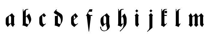 Zentenar Fraktur UNZ1L Bold Italic Font LOWERCASE