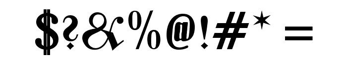 Zentenar Fraktur UNZ1L Bold Font OTHER CHARS