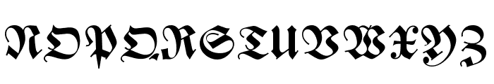 Zentenar Fraktur UNZ1L Bold Font UPPERCASE