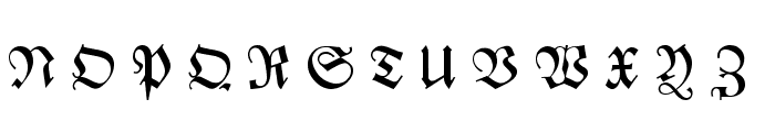 Zentenar Fraktur UNZ1L Italic Font UPPERCASE