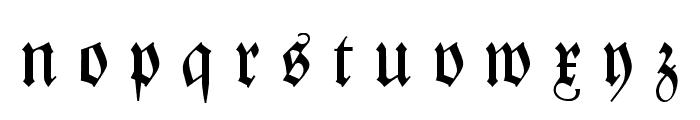 Zentenar Fraktur UNZ1L Italic Font LOWERCASE
