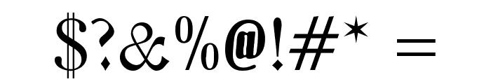 Zentenar Fraktur UNZ1L Font OTHER CHARS