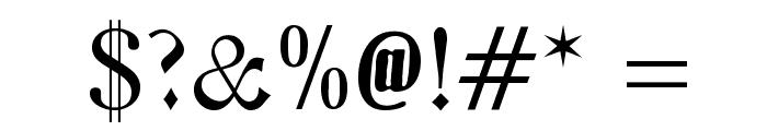 Zentenar Fraktur Font OTHER CHARS