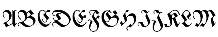 Zentenar Fraktur Font UPPERCASE