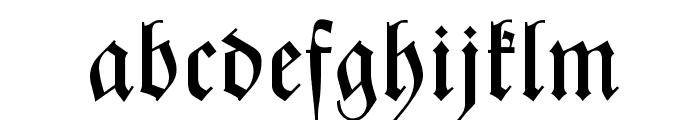 Zentenar Fraktur Font LOWERCASE