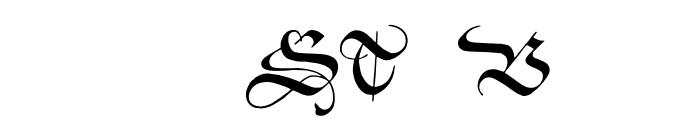 ZentenarZier Font LOWERCASE