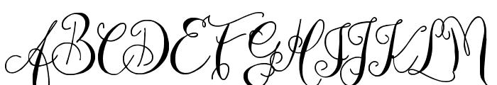 Zenyth Script Font UPPERCASE
