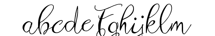 Zenyth Script Font LOWERCASE