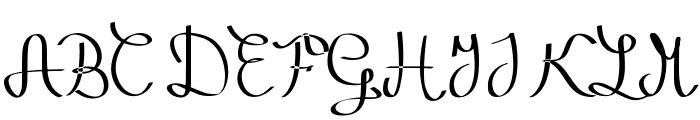 Zephiroth Straight Font UPPERCASE