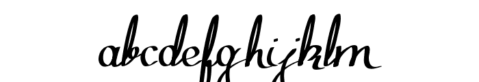 Zephiroth Font LOWERCASE