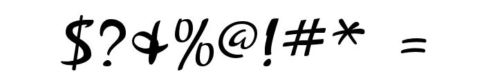 ZephyrScriptFLF Font OTHER CHARS
