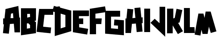 Zerengetti Black Font UPPERCASE