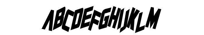 Zero Gravity Bold Italic Font UPPERCASE