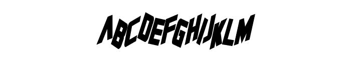 Zero Gravity Bold Italic Font LOWERCASE