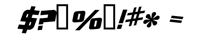 Zero Gravity Extended Bold Italic Font OTHER CHARS