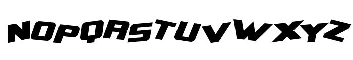 Zero Gravity Extended Bold Italic Font UPPERCASE