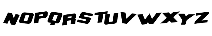 Zero Gravity Extended Bold Italic Font LOWERCASE