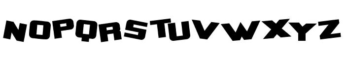 Zero Gravity Extended Bold Font LOWERCASE