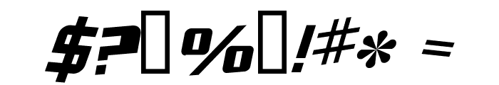 Zero Gravity Extended Italic Font OTHER CHARS