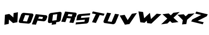 Zero Gravity Extended Italic Font UPPERCASE