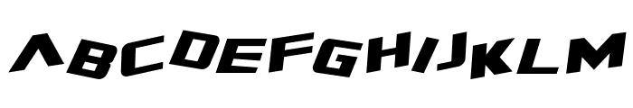 Zero Gravity Extended Italic Font LOWERCASE