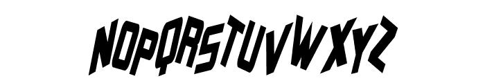 Zero Gravity Italic Font UPPERCASE