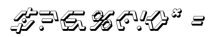 Zeta Sentry 3D Italic Font OTHER CHARS