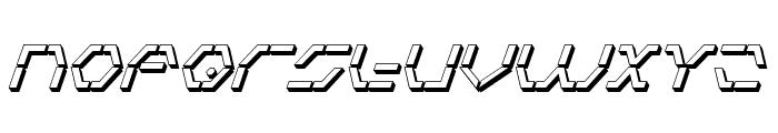 Zeta Sentry 3D Italic Font UPPERCASE