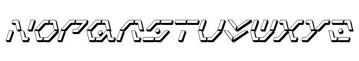 Zeta Sentry 3D Italic Font LOWERCASE
